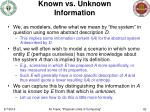 known vs unknown information1