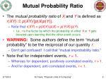 mutual probability ratio