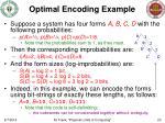 optimal encoding example