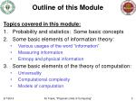 outline of this module