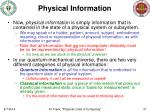 physical information