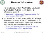 pieces of information