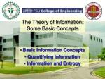 the theory of information some basic concepts