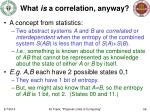 what is a correlation anyway