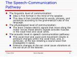 the speech communication pathway
