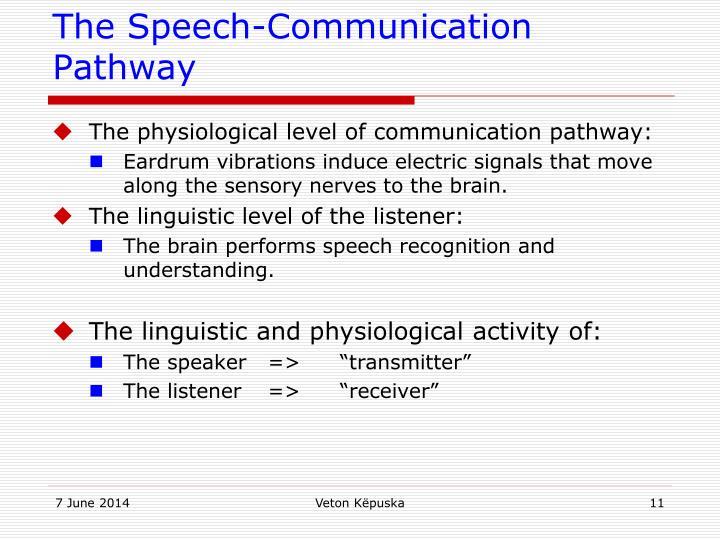 The Speech-Communication Pathway