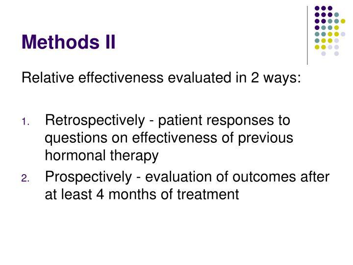Methods II