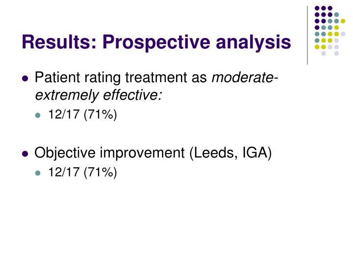 Results: Prospective analysis