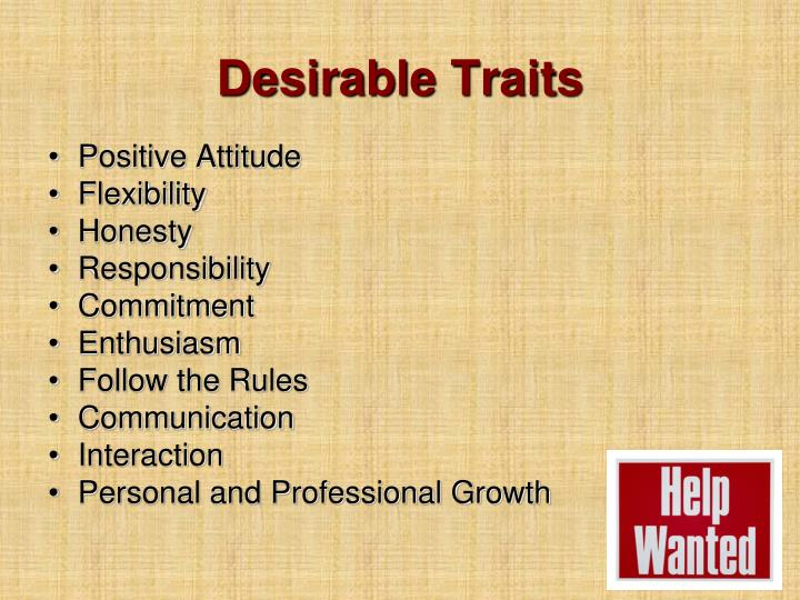 Desirable Traits