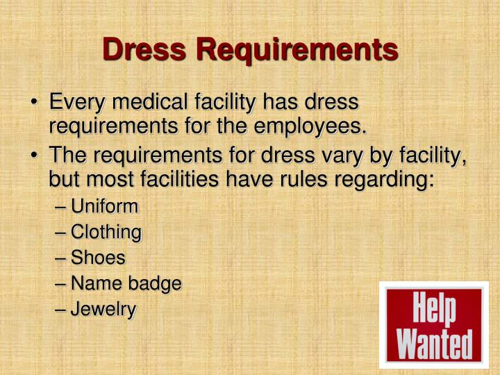 Dress Requirements