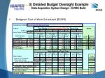 3 detailed budget oversight example data acquisition system design evms build1