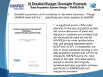 3 detailed budget oversight example data acquisition system design evms build4