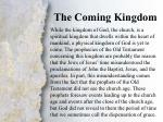 iv the coming kingdom a c