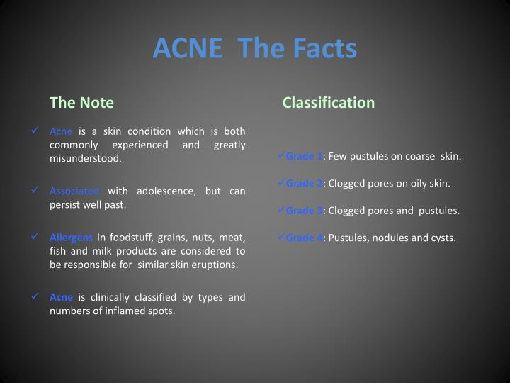 Acne the facts