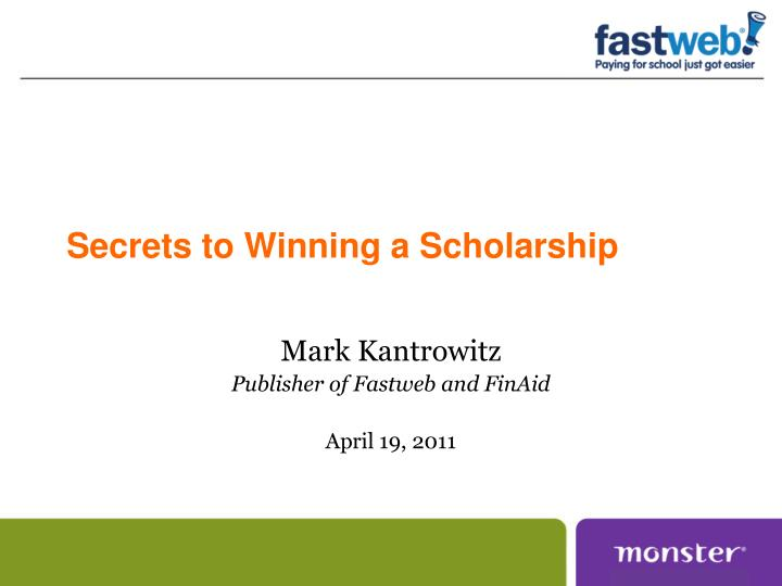 secrets to winning a scholarship n.