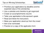 tips on winning scholarships