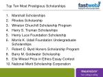 top ten most prestigious scholarships