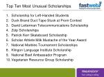 top ten most unusual scholarships