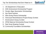 top ten scholarships that don t need an a