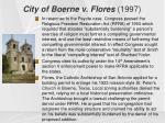 city of boerne v flores 1997