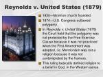 reynolds v united states 1879