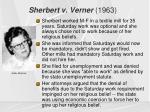 sherbert v verner 1963
