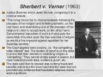 sherbert v verner 19631