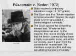 wisconsin v yoder 1972
