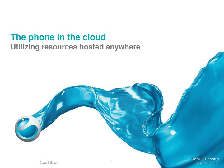 the phone in the cloud n.