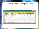 simple project tracking with excel