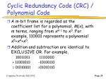 cyclic redundancy code crc polynomial code