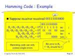 hamming code example