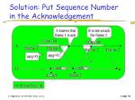solution put sequence number in the acknowledgement