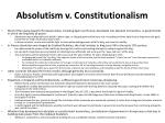 absolutism v constitutionalism
