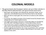 colonial models