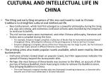 cultural and intellectual life in china