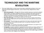 technology and the maritime revolution
