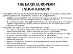 the early european enlightenment