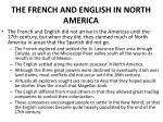 the french and english in north america
