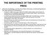 the importance of the printing press
