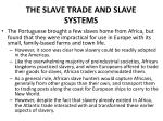 the slave trade and slave systems