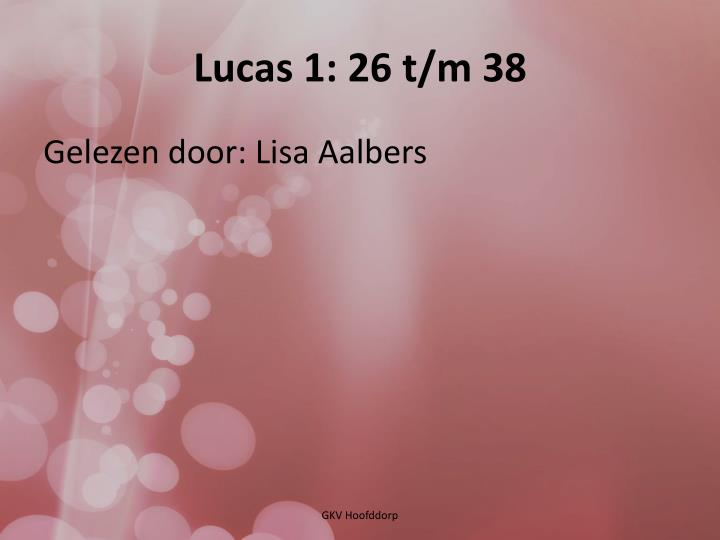 Lucas 1: 26 t/m 38