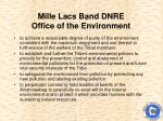 mille lacs band dnre office of the environment
