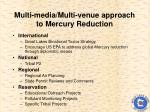 multi media multi venue approach to mercury reduction