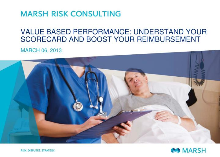 value based performance understand your scorecard and boost your reimbursement n.