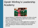 oprah winfrey s leadership academy