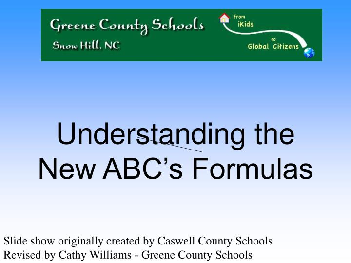 understanding the new abc s formulas n.