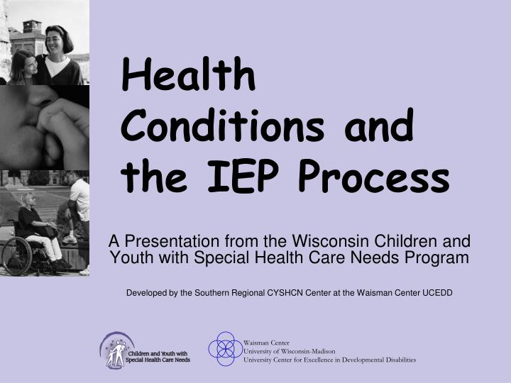 health conditions and the iep process n.