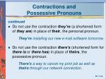 contractions and possessive pronouns3