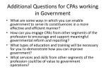 additional questions for cpas working in government